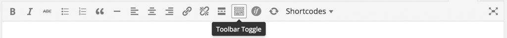 Toolbar Toggle
